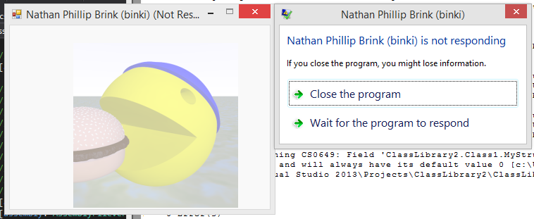 Nathan Phillip Brink (binki) is not responding